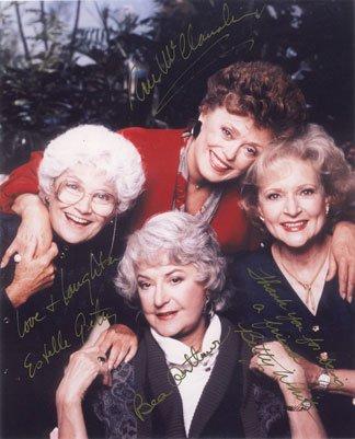 cast of the golden girls signed autographed reprint photo 8x10 - A Golden Christmas Cast
