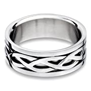 Steel Celtic Ring - size 11