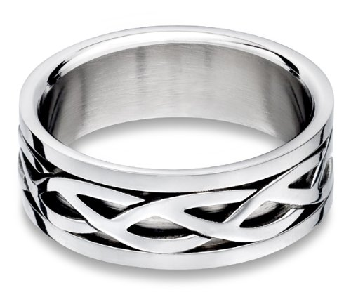 Steel Celtic Ring - size 5