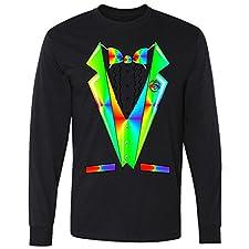 Tux Tuxedo With Pockets Rose Tie Dye Long Sleeve T-Shirt