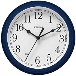 Westclox 46985 9 Round Wall Clock, Blue