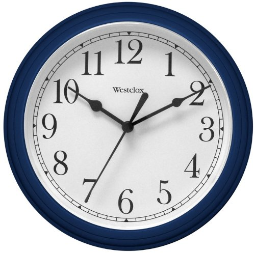 Westclox 46985 8 1/2 Round Wall Clock Blue