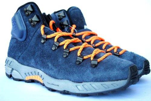 Nike Zoom Meriwether Acg Boots Mens Size 9 Royal Blue Hairy Suede & Warning Orange 536234-444