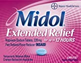 Midol Extended Relief Caplets 24 Caplets,  (Pack of 3)