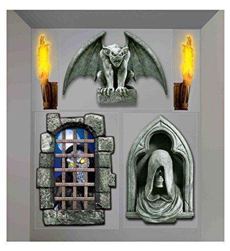 Forum Novelties Dungeon Decor Indoor/Outdoor Creepy Wall Decoration, 5', Multicolor