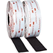 3M Fastener TB3526N/TB3527N Hook/Loop Black, 1 in x 10 ft (1 Mated Strip/Bag)
