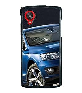 Luxury Blue Car 2D Hard Polycarbonate Designer Back Case Cover for LG Nexus 5 :: LG Google Nexus 5