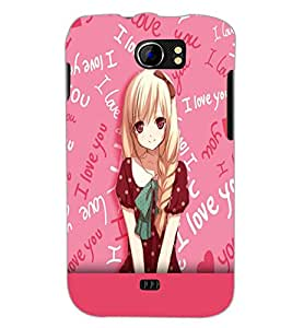 PrintDhaba Cute Girl D-5490 Back Case Cover for MICROMAX A110 CANVAS 2 (Multi-Coloured)
