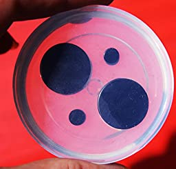 Clear handmade Silicone Mold Tunnel Ear Plug Piercing, 2 pair. Size 4mm,18mm.(A38))