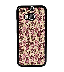 PrintDhaba Pattern D-5463 Back Case Cover for HTC ONE M8 (Multi-Coloured)
