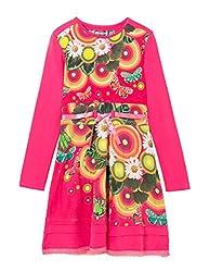 Desigual Girls' Toddler Girls' Dress Asmara, Fuchsia Rose, 11/12