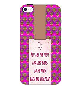 PrintDhaba Quote D-4947 Back Case Cover for APPLE IPHONE 5 (Multi-Coloured)