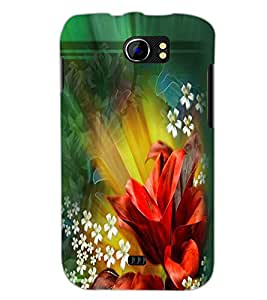 PrintDhaba Flowers D-2290 Back Case Cover for MICROMAX A110Q CANVAS 2 PLUS (Multi-Coloured)
