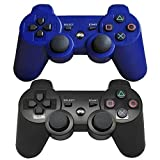 Findway-Wireless-Bluetooth-Controllers-for-PlayStation-3-PS3-Double-Shock-1-Black-and-1-Blue