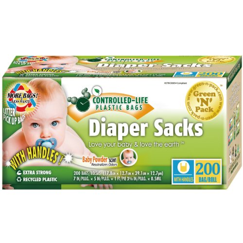 Green N Pack Easy-Tie Scented Baby Diaper Sacks / Diaper Bags 200-Count front-107879