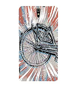 Stylish cycle Back Case Cover for Sony Xperia C5 Ultra Dual::Sony Xperia C5 E5553 E5506::Sony Xperia C5 Ultra