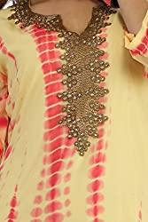 Feather Touch Women's Georgette Kurti (FT3109TOM2_Red_40)