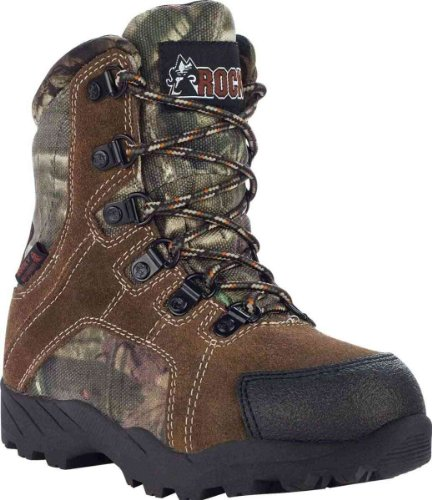 Rocky 3710 Kid's Hunting WP INS Boot Brown/Camo Youth 3.5 M US