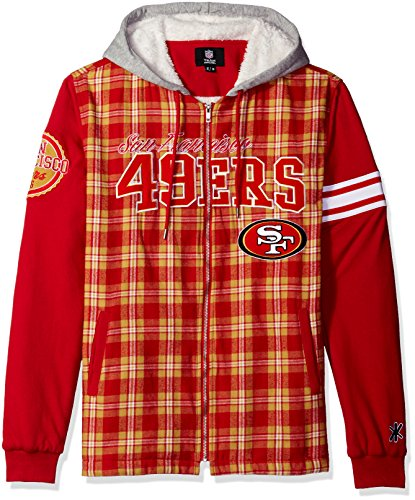 49ers Men's Flannel Hooded Jacket