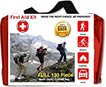 Premium Compact 130 Piece First Aid Kit for Family, Home, Travel, Camping, Hiking, Sports, Survival And More!