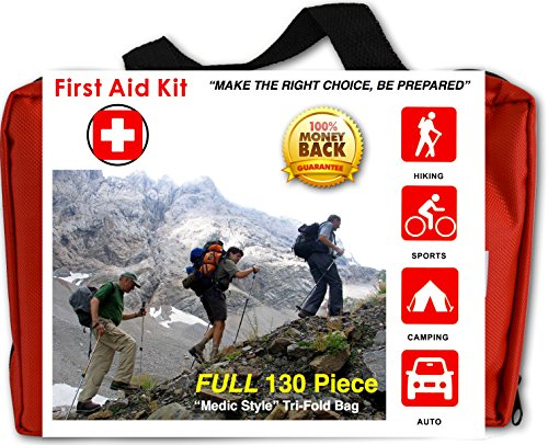 premium-compact-130-piece-first-aid-kit-for-family-home-travel-camping-hiking-sports-survival-and-mo