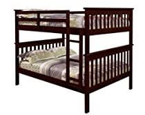 Hot Sale Mission Bunkbed with Slat-Kits - Full over Full