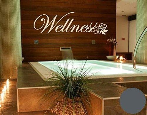 wandtattoo wellness b x h 60cm x 18cm farbe dunkelgrau erh ltlich in 35 farben und 5 gr en. Black Bedroom Furniture Sets. Home Design Ideas