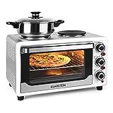 Klarstein-Omnichef-Mini-four-de-23L-avec-nombreux-accessoires-et-2-plaques-de-cuisson-1500W-grill-broche-blanc