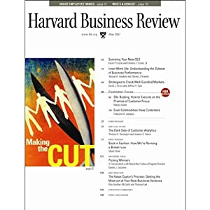 Harvard Business Review, May 2007 | [Harvard Business Review, Kevin P. Coyne, Edward J. Coyne, Teresa M. Amabile, Steven J. Kramer, Diane Coutu]