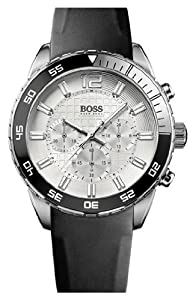 Hugo Boss 1512805 Black Strap With Silver Dial Men's Watch
