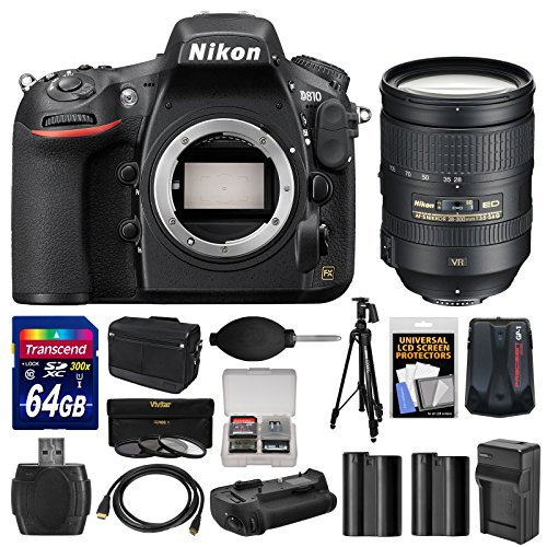 Nikon-D810-Digital-SLR-Camera-Body-with-28-300mm-VR-Lens-64GB-Card-Case-Batteries-Charger-Grip-Tripod-Kit