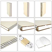 ParaCity Wooden Folding LED Nightlight Book Led Light & LED Folding Book Lamp,Art Light,Decorative Lights,Desk/Wall Magnetic Lamp by Paramount City