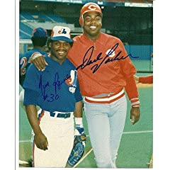 Autographed Hand Signed 8x10 Photo Tim Raines & Dave Parker Montreal Expos