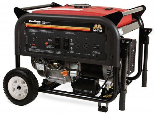 Mi-T-M Gen-8000-0Mme Choremaster Generator With 420Cc Mi-T-M Ohv With Electric Start Engine, 8000W, Red/Black