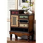 Furniture of America Circo Vintage Style Storage Chest, Antique Walnut