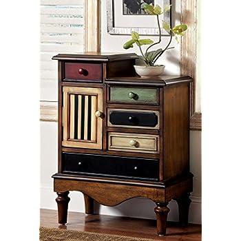 Furniture of America Circo Vintage Style Storage Chest, Antique Walnut