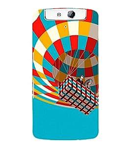Hot Air Balloon 3D Hard Polycarbonate Designer Back Case Cover for Oppo N1