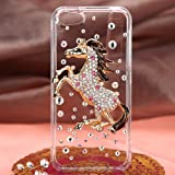 Accessory Factory(TM) Bundle (the item, 2in1 Stylus Point Pen) APPLE iPhone 5S 5 Running Horse Crystal 3D Full Diamond Bling Protector Cover (with Package)