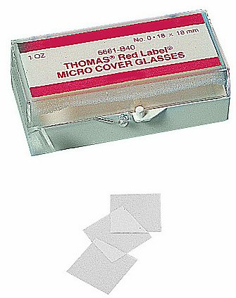Thomas Glass Cover Slip, Square, #2 Thickness (Case of 10)