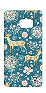 Vogueshell Flower Pattern Printed Symmetry PRO Series Hard Back Case for Samsung Note 7