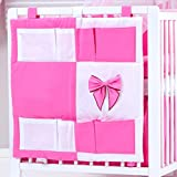 BB-CAMARADE-Organizador con forro de cuna, color rosa fucsia con n?ud. Chic bebé.