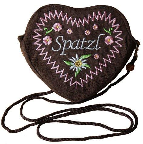 Damen-Dirndltasche-Herz-Umhngetasche-braun-Trachtentasche-Rosa