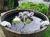 Steinfiguren Wasserspeier Garten Deko-Gartenfigur Koi Teich