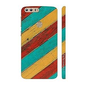 Enthopia Designer Hardshell Case Striper Back Cover for Huawei Honor 8