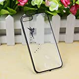 Suppion Transparent Hard Skin Case Cover For IPhone 5 5S (Black)