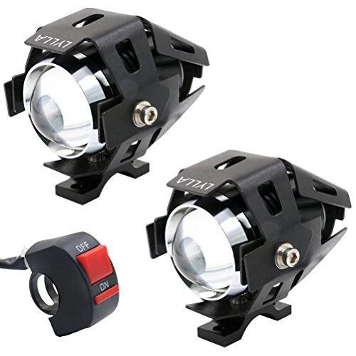 LYLLA CREE U5 LED Lamp Headlight Fog Light Spotlight for Motorcycle/ATV/Truck w/ ON/OFF Switch Button (Pack of 2) (Motorcycles Led Head Bulbs Lights compare prices)