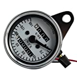 THG 12V Universal Motorcycle ATV Scooter Dual Odometer Speedometer Gauge Double Mileage Meter New 7cm