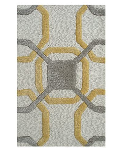 Pop Accents Westover Scatter Rug, Ivory/Multi, 2′ x 3′
