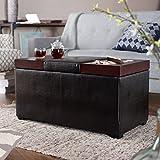 Amazon Com Coaster Storage Ottoman Coffee Table With