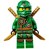 LEGO® Ninjago Minifigure - Lloyd Zukin Robe Jungle Green Ninja with Dual Gold Swords (70749)